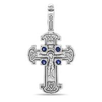 Крест с сапфирами