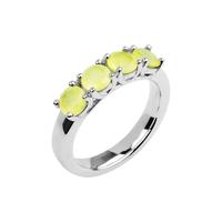 Кольцо с лимонным халцедоном