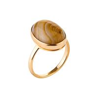 Кольцо с коричневым агатом